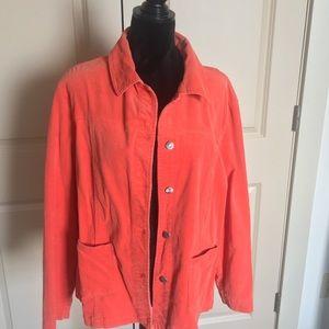 Orange light weight corduroy blazer